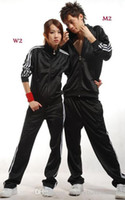 10 sets lot Fashion mens womens tracksuits sport track suit ...