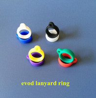 Wholesale 2014 New product Electronic cigarette accessary ego case silicon ring lanyard silicone ring e cig lanyard ring with various colors