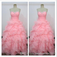 Cheap Factory Actual Photos 2014 Sexy Evening Dresses Beaded Sweetheart Sleeveless A Line Ruffles Organza Cheap Cocktail Dress Prom Gown WH701