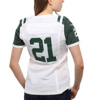 Cheap Wholesale Women's #21 LaDainian Tomlinson White 2014 Game Jersey American Football Jerseys Men Women Youth Kids Sportswear Rugby Mix Order