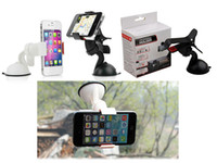 Wholesale 2014 New Universal Car Holder Degree Rotating Car Mount Bracket Holder Stand for iPhone Samsung GPS MP4 tablet With Retail Box
