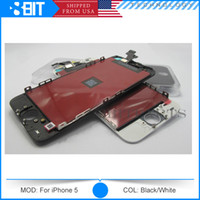 Cheap For Apple iPhone 5 5c 5s Screen for iPhone 5 LCD Best LCD Screen Panels Black/White Free DHL phone 5S screen