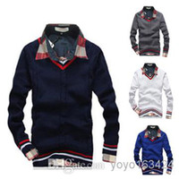 Wholesale New Design Men Sweaters V Neck Men Casual Winter Clothing Fashion Pullovers Knitted Sweaters Pullover Men