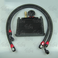 Wholesale MOFE High Quality Row Engine Oil Cooler With Oil Sandwich Adapter Braided Nylon Stainless Steel Oil Line Black