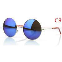 Wholesale HOT SALE Fashion Designer Round sunglass Women Vintage Steampunk Sunglasses Bulk