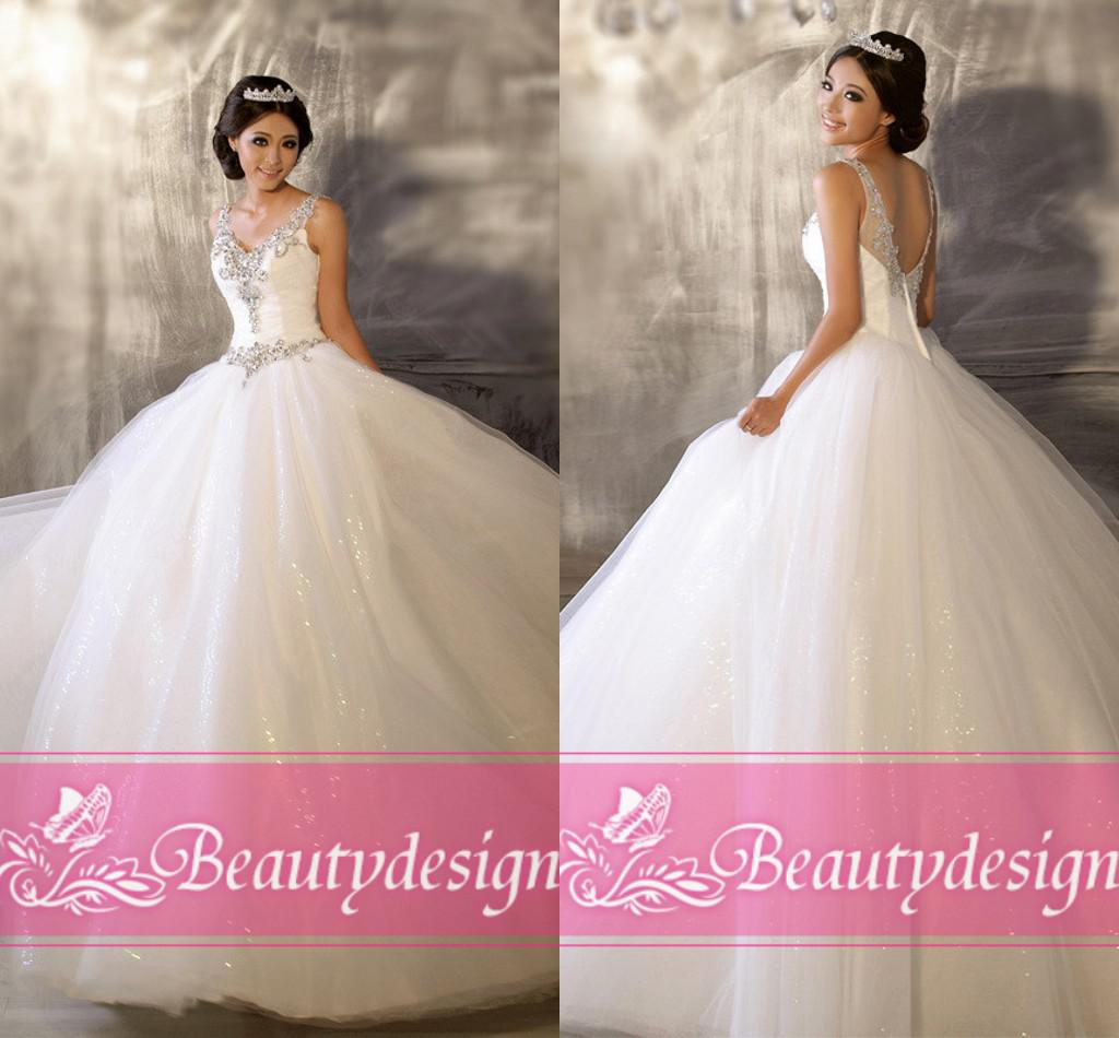 Cheap New Arrival Princess Ball Gown Wedding Dresses