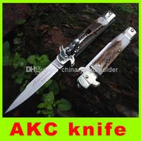 best boning knife - New ITALIAN AKC Bone Handle D2 Steel Blade Folding Pocket Knife AKC hunting cutting knife best christmas gift L