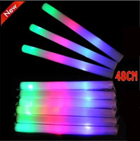 glow light sticks - Led Foam Sticks Flashing Foam Stick Light Cheering Glow Foam Stick Luminous Sticks Festivals Christmas Carnival Concerts LED Cheer Props