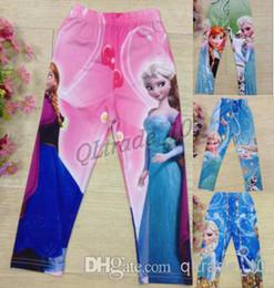 Wholesale 6 COLOR FROZEN Legging Kids Girls Olaf Frozen Elsa Anna Long Johns Pants Leggings Frozen A362