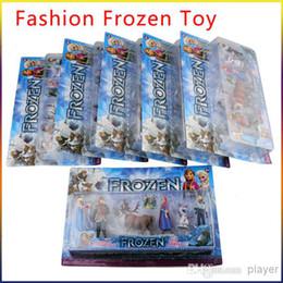 Wholesale Fashion Frozen toy Action Figure Play Set Frozen Princess Dolls Anna Elsa Figures Sets TV movie Cartoon Anime