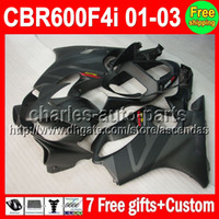 For Honda 2012 - 7gifts For HONDA CBR600F4i CBR600 F4i C L384 ALL Flat CBR F4i FS CBR600FS CBR F4i Grey black Fairing On Sale