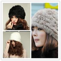 rabbit fur hat - 2014 New Fashion Women Warm Cap Rabbit Hair Woven Hat Fur Elegant Cape Hare Hair Cap Multicolor