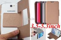 Cheap Universal Wallet Flip PU Leather Stand Case For 3.5-5.3 inch Mobile Phone ZTE WIKO Alcatel Samsung iPhone Nokia HTC LG MOTO Blackberry