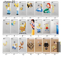 Wholesale Princess Snow White Frozen Elsa Little Mermaid Ariel Semi Simpsons Spiderman Matte Clear Case for iphone S SE C Plus PLUS