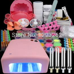 Wholesale Combine Set W UV Lamp Gel Polish Dryer Light Acrylic Nail Art Kit Set UK
