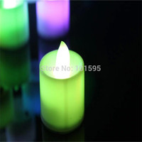 Wholesale New Flickering Flicker Flameless LED Tealight Tea Candles Light Battery Operated Wedding Birthday Party Christmas Decoration
