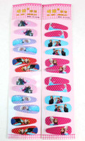 Wholesale Hot sale set Cute Girls Hair clips Frozen Queen Elsa Anna Aisha Hairpin Hair Accessories