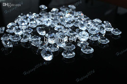 Wholesale bag Diamond Wedding clear Table Scatter Crystals Confetti Decoration Gems mm