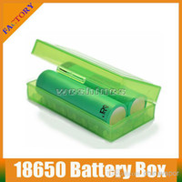 Wholesale Hot Plastic Battery Case Rechargeable CR123A LIR123A Battery Case Box Holder Storage Container For E Cigarette Battery