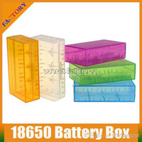 storage containers - 2014 Colorful Plastic Battery Case Box Holder Storage Container Fit For or CR123A Electronic Cigarette Battery