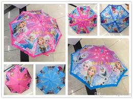Wholesale Hot Cute Cartoon Frozen Umbrella Rain and Sun Proof Frozen Princess Elsa Anna Olaf Children Girls Umbrella Frozen Series