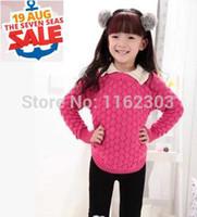 Wholesale Autumn new children sweater Pure cotton girls sweaters wool sweater children clothing