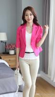 Women' s Short Blazers Jacket OL Women Long Sleeves Suit...