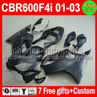 7gifts For HONDA Flat black CBR600F4i CBR600 F4i 01 02 03 C#...
