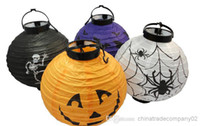 export packing - Great Festival Halloween Paper lanterns LED lantern battery pack accessories paper lanterns Halloween Halloween lantern foreign trade export