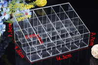 Wholesale New arrive products New Cells Lipstick Showing Holder Makeup Cosmetic Trapezoid Display Stand