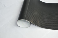 Wholesale hot new Air Release free bubble D black car wrap auto sticker Carbon Fiber Vinyl sheets air drain release hood m