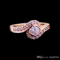 Wholesale Hot Design Shinning Jewelry Romantic Style KRGP Simulated Diamond Rings for Fashion Women on Anniversary Party