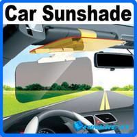 Wholesale High Quality Car Sunshade Goggles Auto Sunglasses Shield Flip Cover Sun Visor Clip Free Cover Reflex Block Mirror YW35