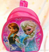 Wholesale EMS fast shipping new Snow princess children schoolbags baby girls schoolbag Children Backpack cartoon backpack kids bags