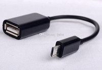 USB Female to Micro USB 5 Pin Male Adapter Host Cable OTG Co...