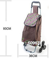 Cheap Wholesale-OP-Free shippingFashion 6 six idler gyro roller wheels wheeled shopping cart shopping trolley Shopping Bags Bag
