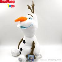 Wholesale DHL free Frozen Stuffed Cartoon Plush Toys Toddlers Kid Toy Frozen Snow Olaf Cartoon princess Elsa Anna doll plush toy doll Olaf plush toys