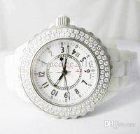 antique black diamond - Luxury Women Watches Lady Swiss Brand Diamonds Bezel White Ceramic quartz Watch Movement Calendar Fashion Designer Womens Wristwatch Girl