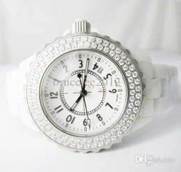 Relojes De Mujer De Lujo Señora Suizo Marca 12 Diamantes Bisel De Cuero Blanco Reloj De Cuarzo De Reloj Movimiento Calendario De Diseñador De Moda Mujer Reloj De Mujer Chica