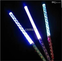 acrylic rods - Colorful Electronic Wand LED Sticks Fluorescent Acrylic Rods Waves LED Glow Stick Halloween Christmas Party Concert Flashing LED Cheer Props
