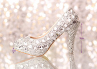 Cheap 2014 wedding shoes women high heels crystal Fashion Bridal Dress shoes woman platforms silver rhinestone Party Prom pumps