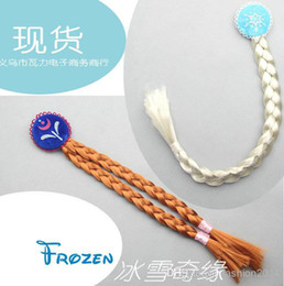 Wholesale New frozen children hair accessories elsa princess Ann wig braid the headdress of the girl child s gift