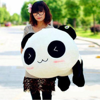stuffed animal pillows - 2014 Fashion Stuffed Plush Doll Toy Animal Giant CM Cute Panda Pillow Bolster Gift New DH04