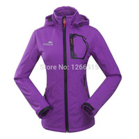 Cheap Wholesale-OP-free Shipping 2014 New Style Real Sale!!Fashion Windproof Waterproof Warmth Women's Softshell Jacket Skiing Coat Camping Jacket