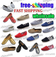 Wholesale Size New Brand Fashion Women Flats Shoes Sneakers Women and Men one for one Canvas Shoes loafers casual shoes Espadrilles