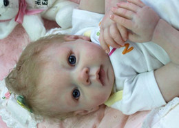 Wholesale Reborn Baby doll kits soft Silicone Vinyl head arms legs for quot lifelike dolls kit