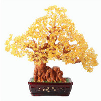 Cheap Genuine opening of natural citrine jewelry Lucky tree Pachira large home furnishing gifts