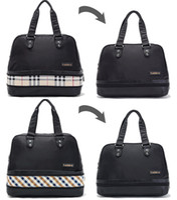 Wholesale Nylon Waterproof Universal Classic Plaid Dual Use Retractable Overnight Bag Handbag Large Organizer Storage Luggage Clearance Limited Stock