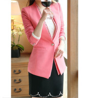 Wholesale Cheap Rhinestones Long Sleeves Solid Color Fashionable Style Polyester Blazer For Women Outlet Sale