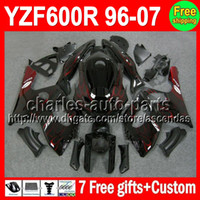 7gifts For YAMAHA Red flames YZF600R Thundercat 96- 07 C#L410...